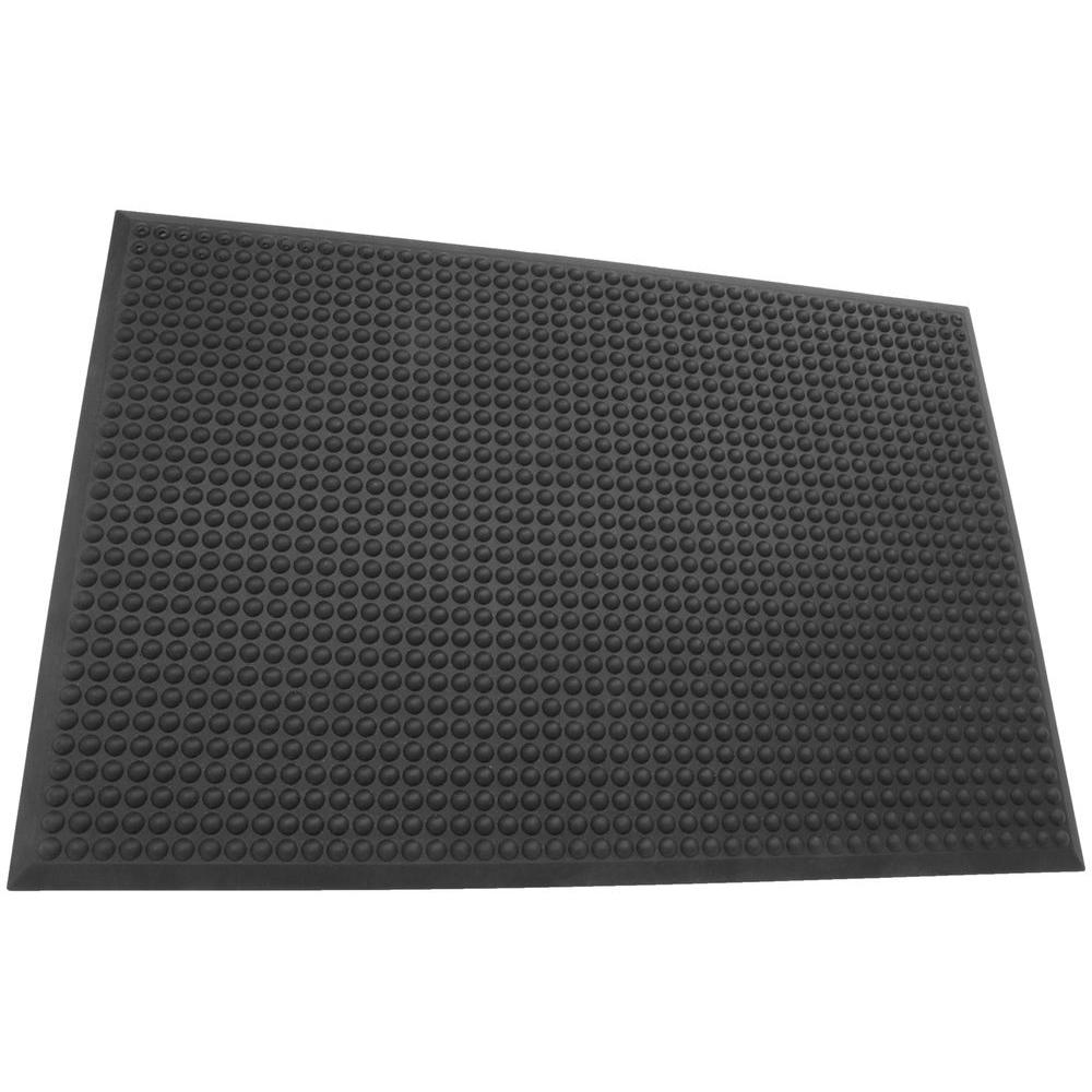 Rhino Anti Fatigue Mats Grand Stand Black Domed Surface 24