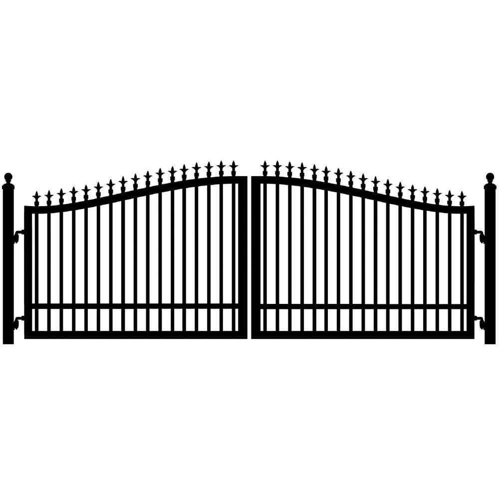 Mighty Mule St. Augustine 14 ft. W x 5 ft. H 2 in. Powder Coated Steel Dual Driveway Fence Gate