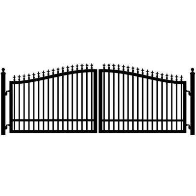 St. Augustine 14 ft. W x 5 ft. H 2 in. Powder Coated Steel Dual Driveway Fence Gate