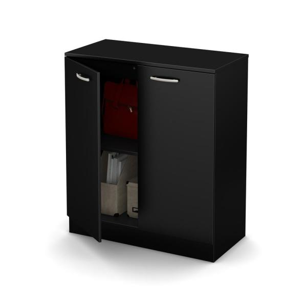 South Shore Axess Pure Black Storage Cabinet 10179