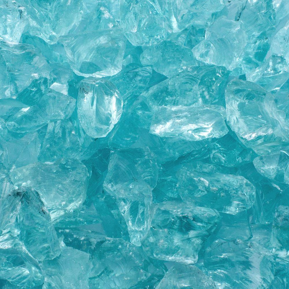 1/2 in. 25 lb. Medium Aqua Landscape Fire Glass