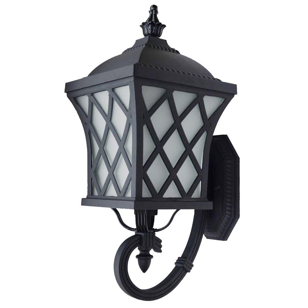 Brevent Collection 1 Light Black Outdoor Wall Lantern