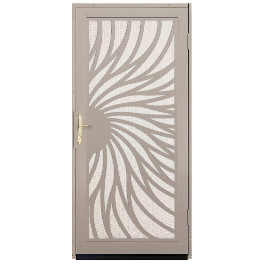 Unique Home Designs 36 In. X 80 In. Solstice Tan Surface Mount Steel  Security