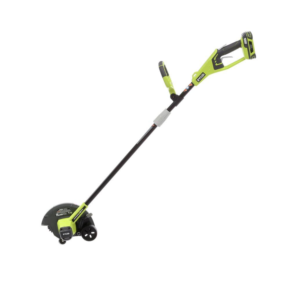 ryobi 9 in 24 volt lithium ion cordless edger ry24310 the home depot
