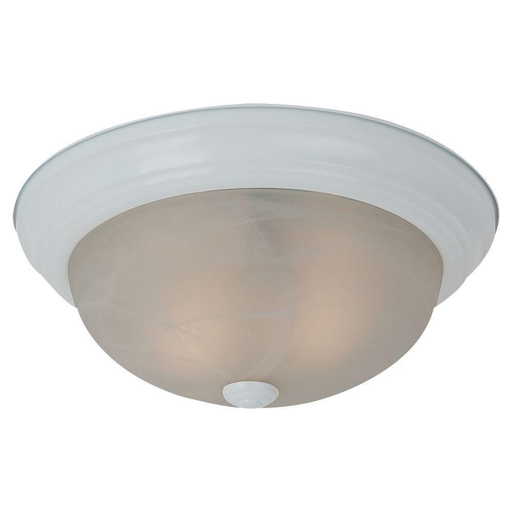 Windgate 3-Light White Flush Mount