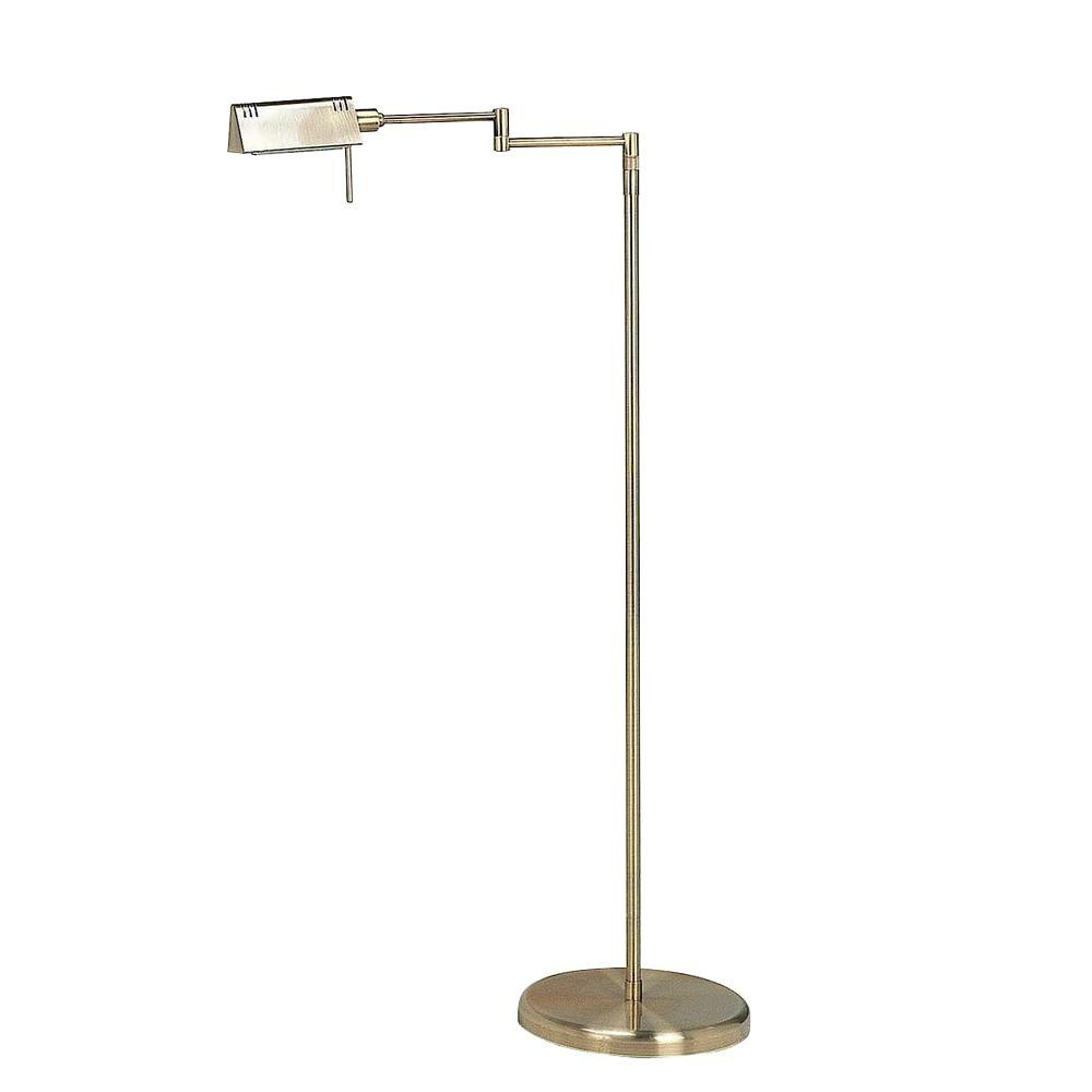 Illumine 55 in. Antique Brass Floor Lamp