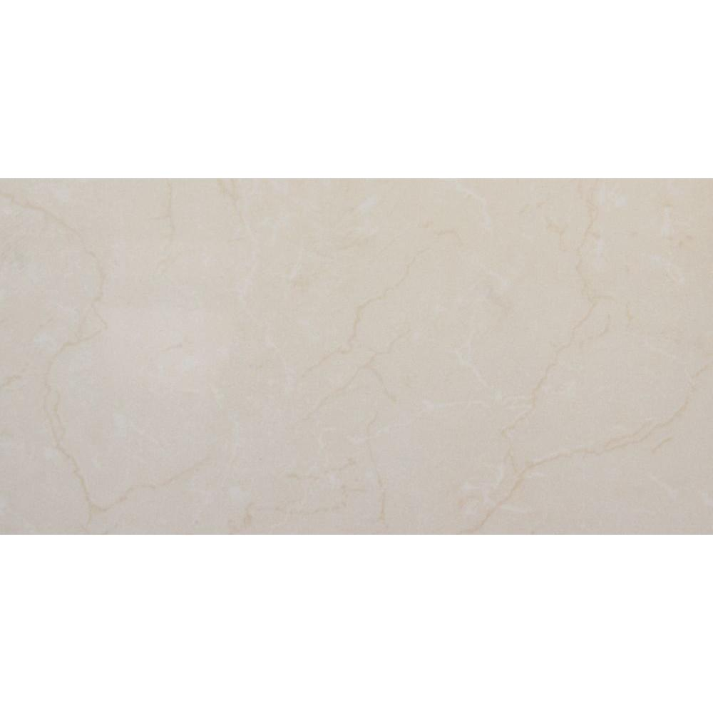 Monterosa Beige 12 In X 24 Polished Porcelain Floor And