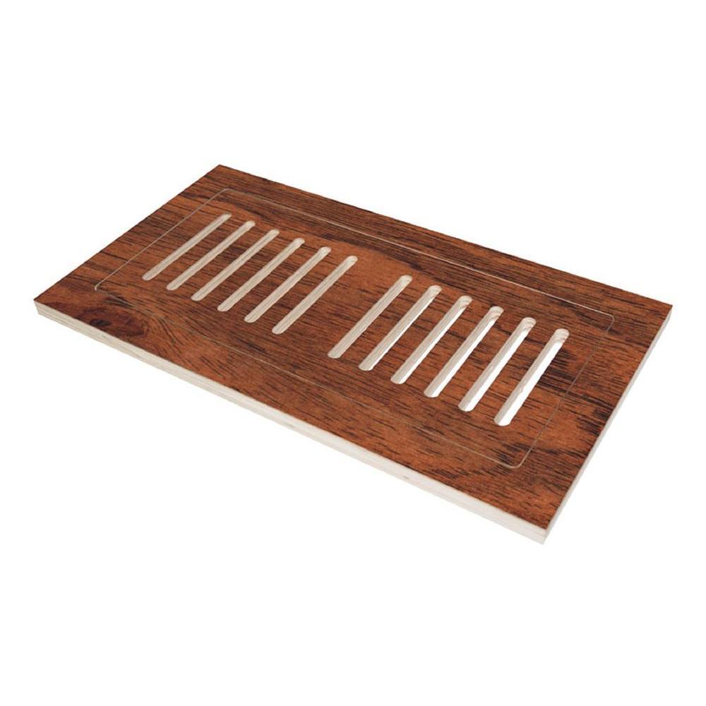 Decor grates 4 in x 10 in plastic floor register in oak for 10 x 12 floor grate