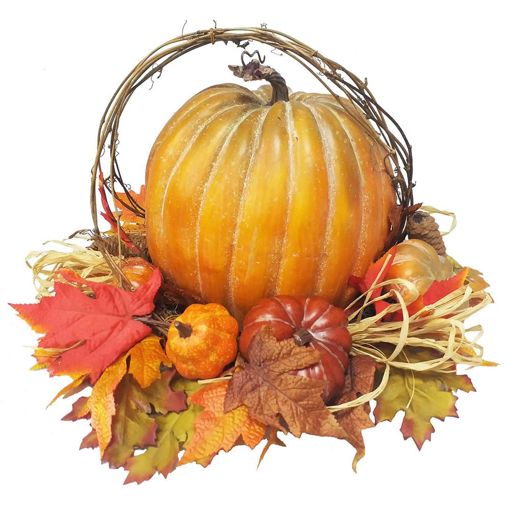 Home Accents Holiday 12 in. Pumpkin Decor