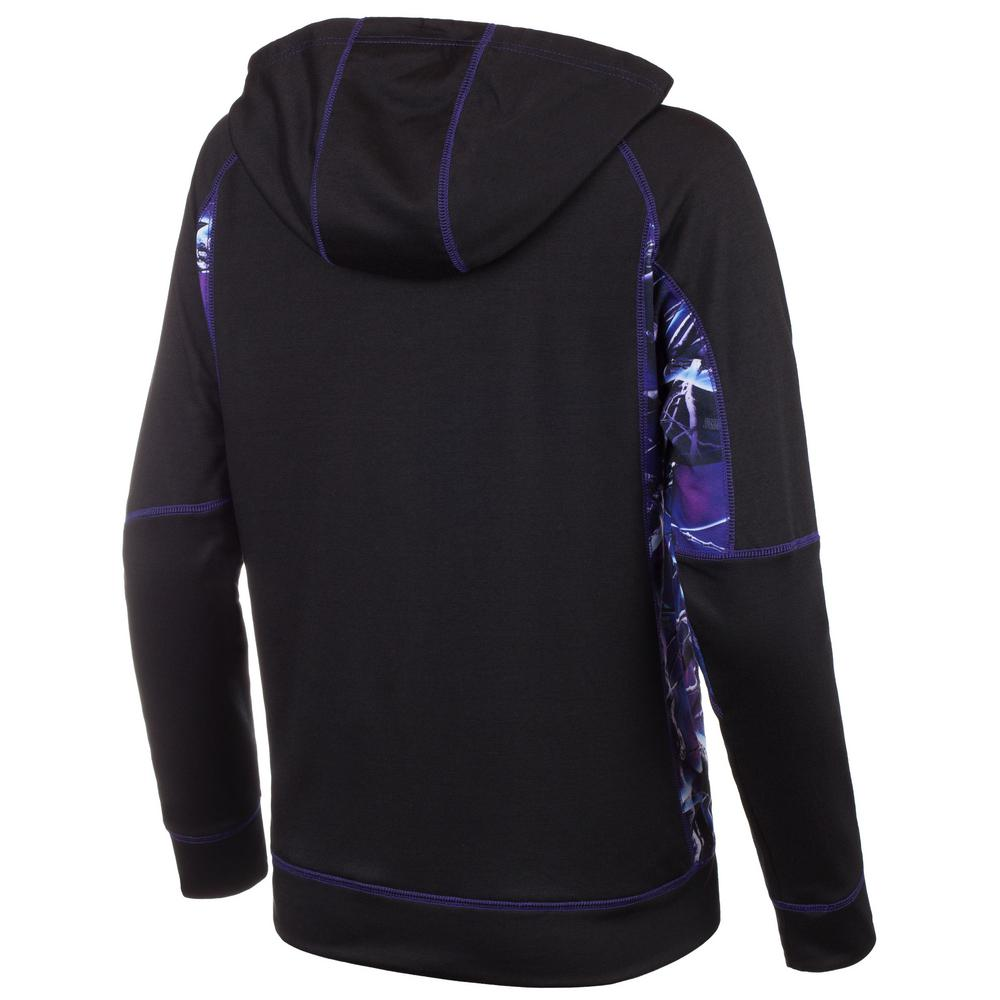 02697f30 HUNTWORTH HUNTWORTH Women's X-Large Black / Ultraviolet Hooded Pullover