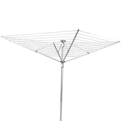Umbrella Dryer Aluminum 2-Piece Pole, 12-Line 192 ft. Drying Space