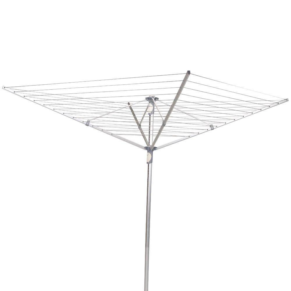 Umbrella Dryer Aluminum 2-Piece Pole, 12-Line 192 ft. Drying Space