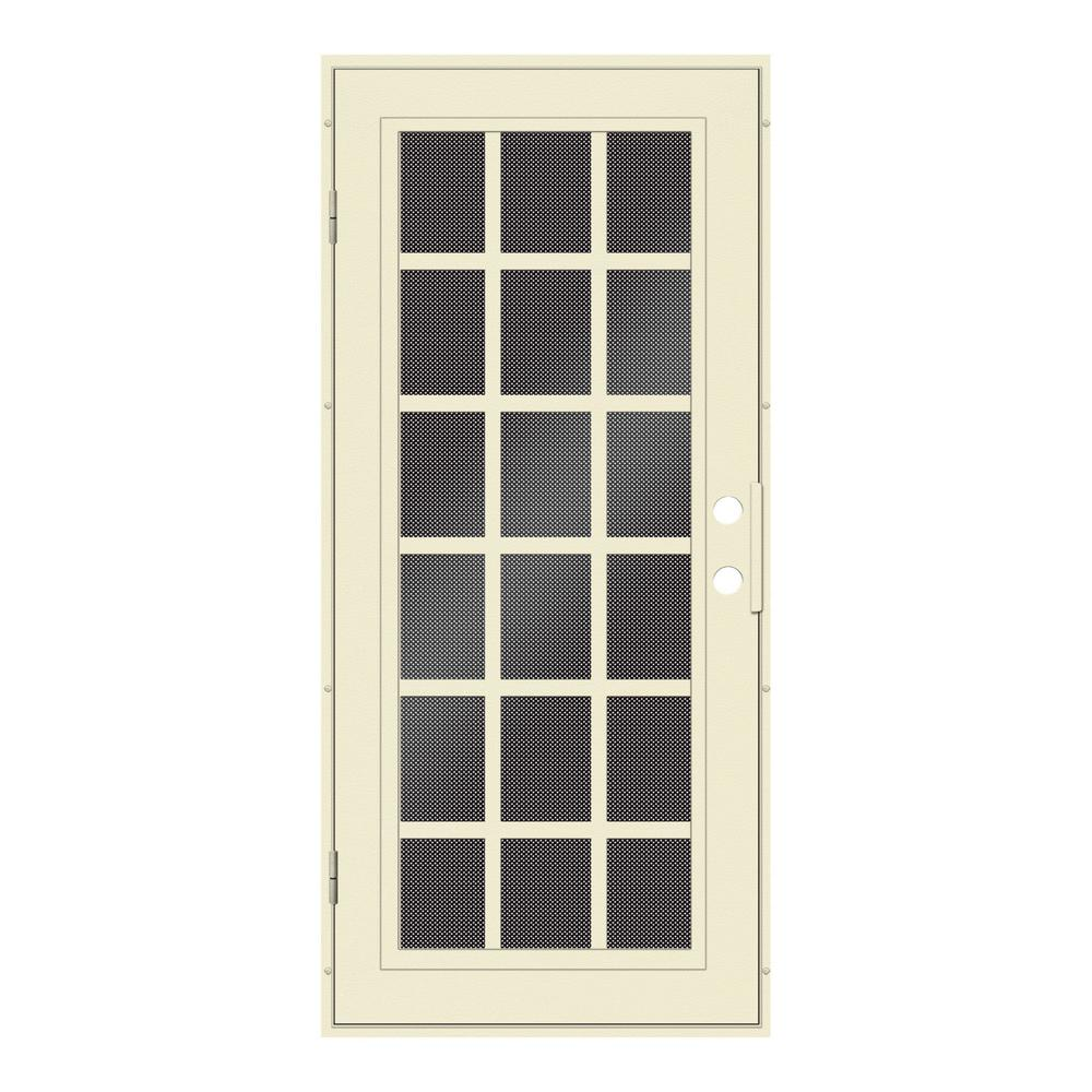 Unique Home Designs 30 In X 80 In Classic French Beige Hammer Left Hand Surface Mount Security