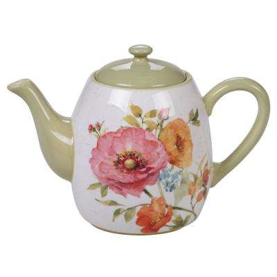 Country Fresh 5-Cup Multi-Colored Teapot