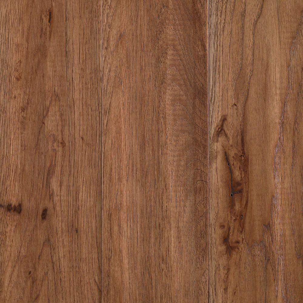Mohawk yorkville tanned hickory 3 4 in thick x 5 in wide for Solid hardwood flooring