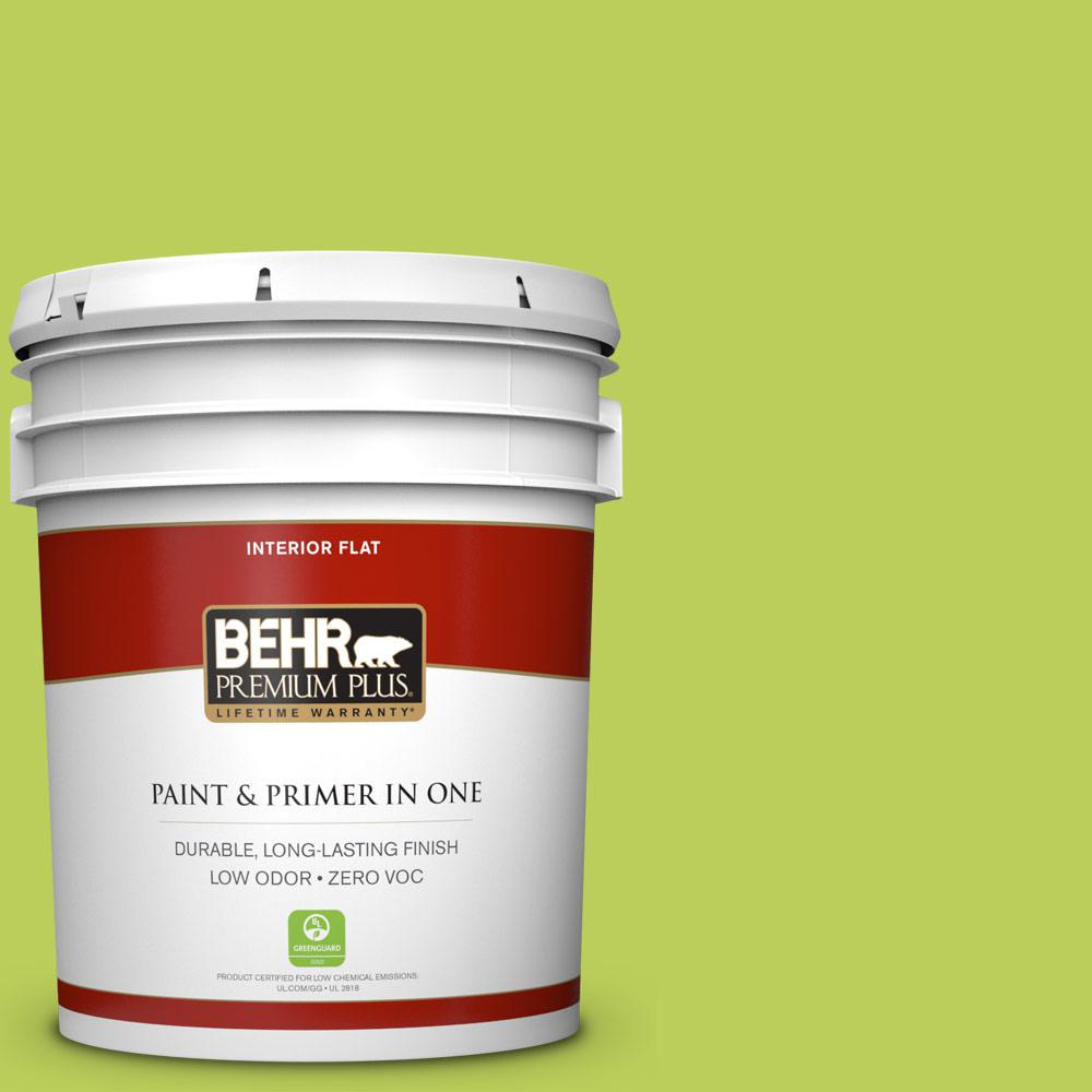 5 gal. #410B-5 Hidden Meadow Zero VOC Flat Interior Paint