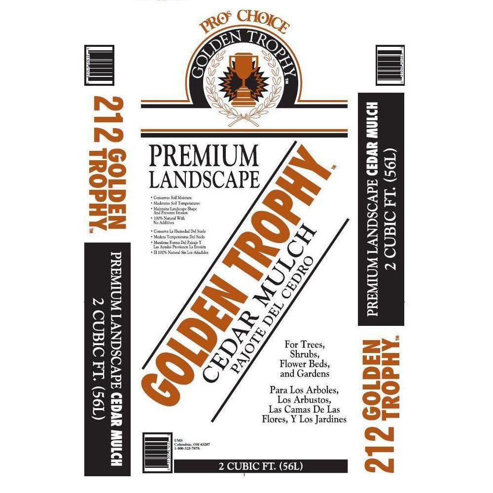Pro\'s Choice Golden Trophy 2 cu. ft. Cedar Mulch-212-80 - The Home Depot