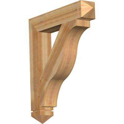 6 in. x 40 in. x 36 in. Western Red Cedar Funston Arts and Crafts Rough Sawn Bracket