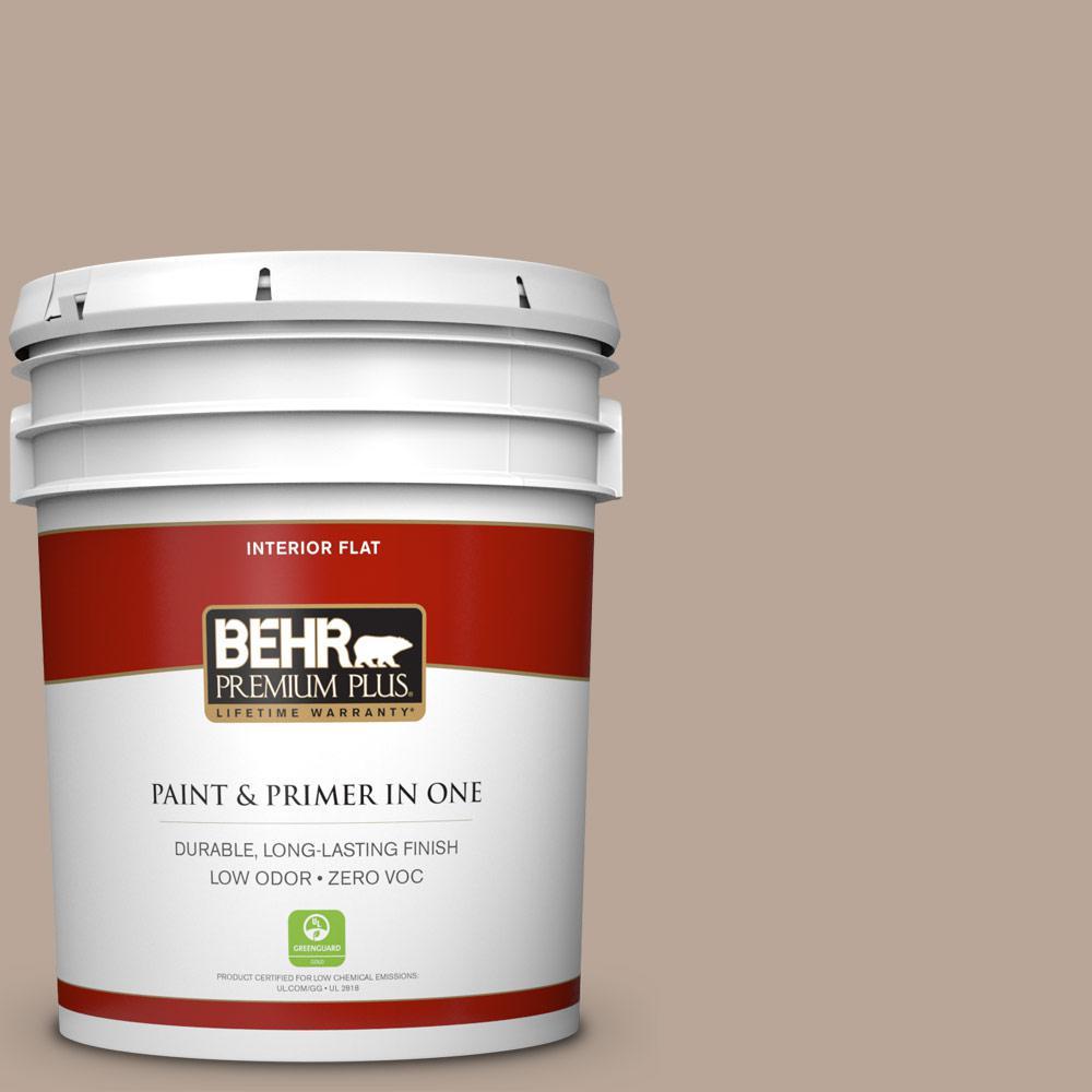 BEHR Premium Plus 5-gal. #BXC-43 Desert Sandstorm Flat Interior Paint