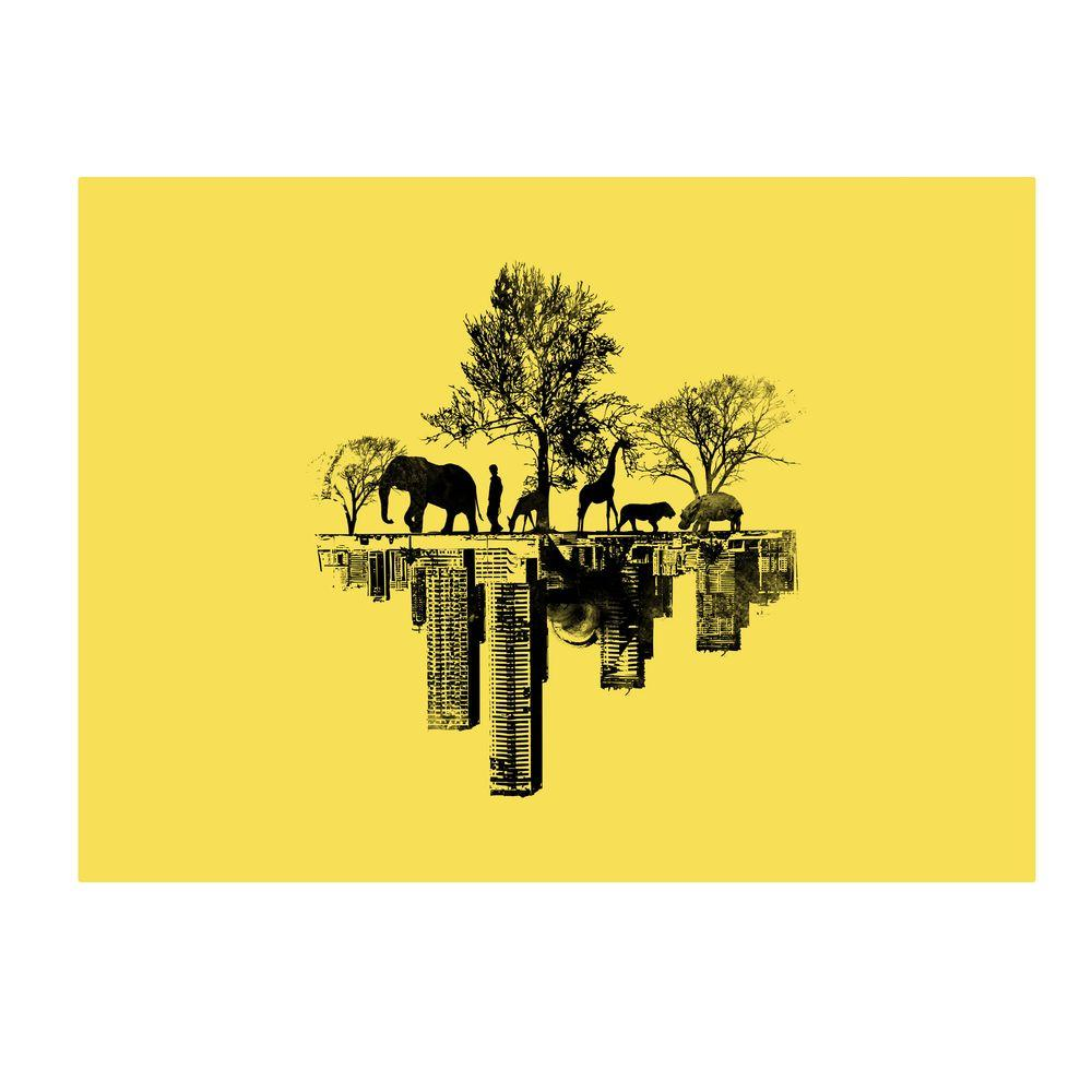 null 22 in. x 32 in. Duality Canvas Art