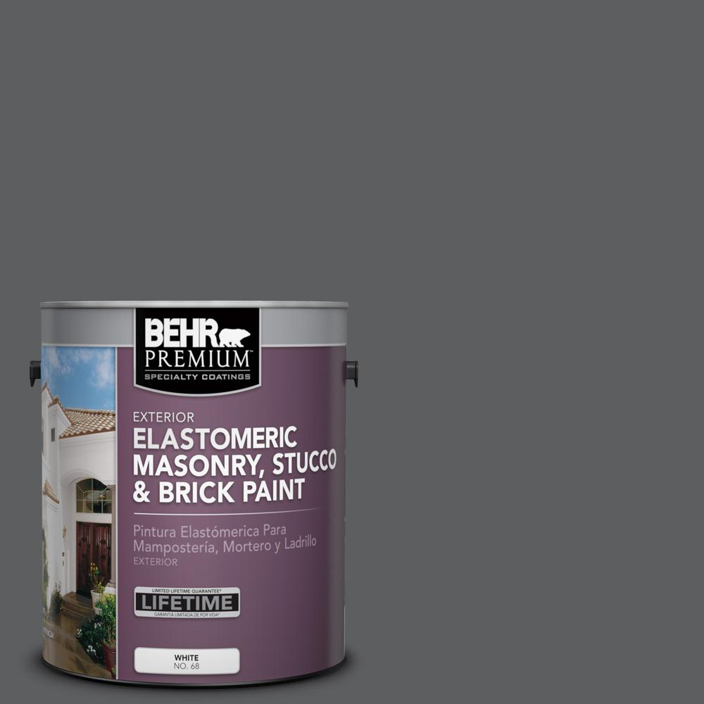 Charcoal Gray Paint >> Behr Premium 1 Gal N500 6 Graphic Charcoal Elastomeric Masonry Stucco And Brick Exterior Paint