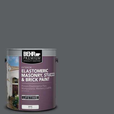 1 gal. #N500-6 Graphic Charcoal Elastomeric Masonry, Stucco and Brick Paint