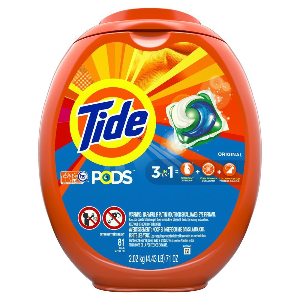 Tide Pods Original Scent Laundry Detergent (81-Count)-003700093045 - The  Home Depot