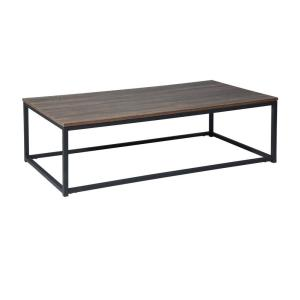 Deals on FurnitureR Oak Metal Frame Facto Coffee Table