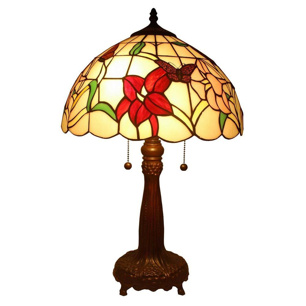 Amora Lighting 22 In Tiffany Style Floral Table Lamp Am063tl14
