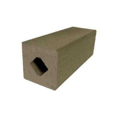 Vantage 4-1/4 in. x 4-1/4 in. x 51 in. Earthtone Solid Composite Square Post with Center Chase
