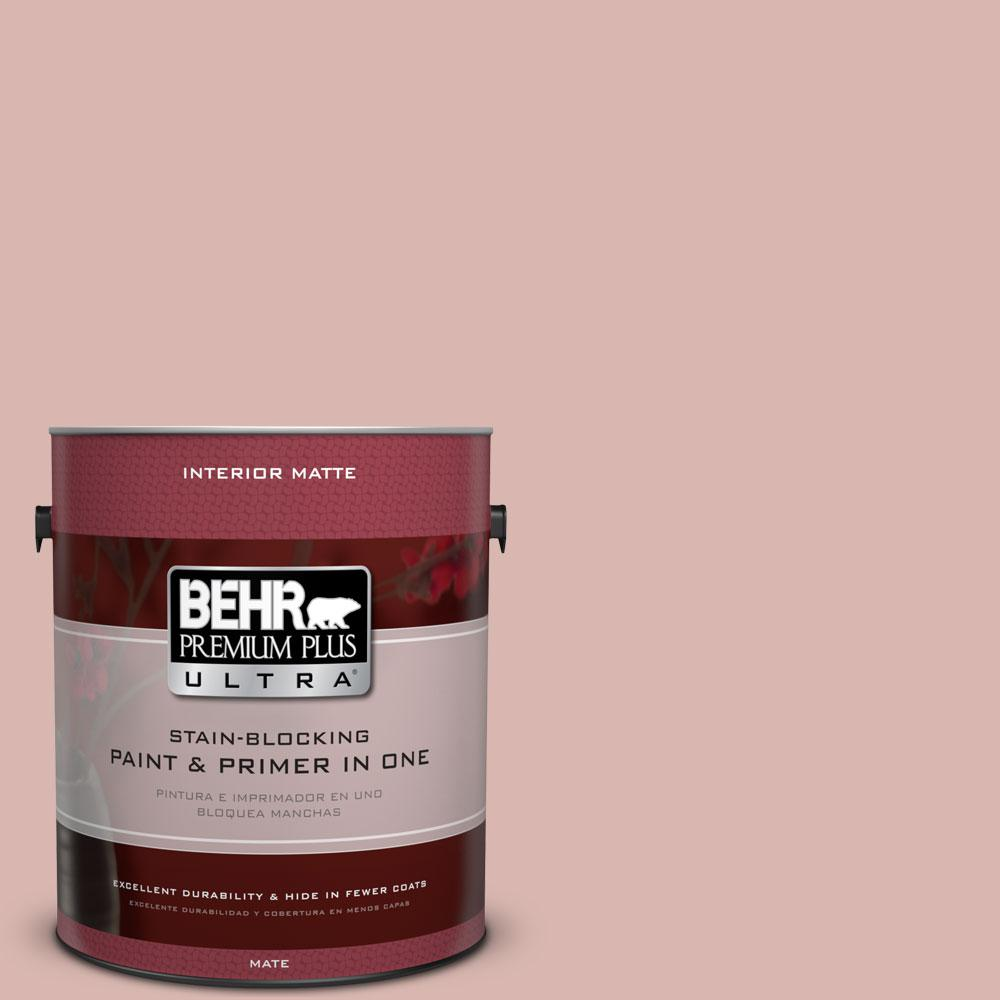 1 gal. #170E-3 Bridal Rose Flat/Matte Interior Paint