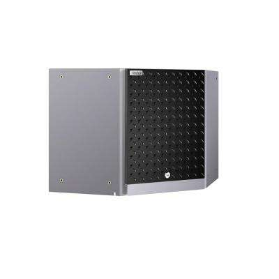 Performance 2.0 Diamond Plate 42 in. W x 18 in. H x 21 in. D Steel Garage Corner Wall Cabinet in Black