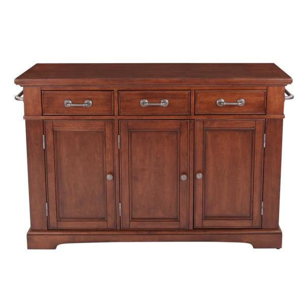 OSP Home Furnishings Country Vintage Oak Kitchen Large Kitchen Island