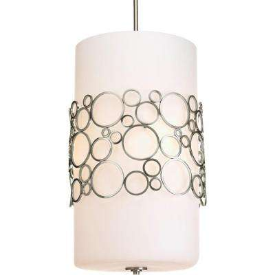 Bingo Collection 3-Light Brushed Nickel Foyer Pendant