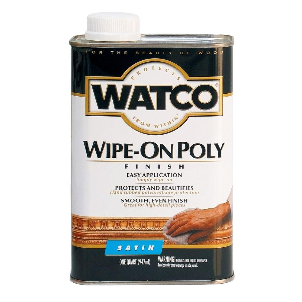 Watco 1 qt. Satin Wipe-On Polyurethane (6-Pack)