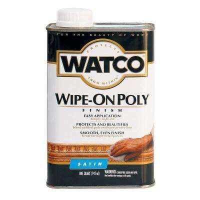 1 qt. Satin Wipe-On Polyurethane (6-Pack)