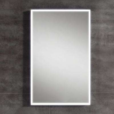 31 in. L x 20 in. W Single Wall LED Mirror in Chrome