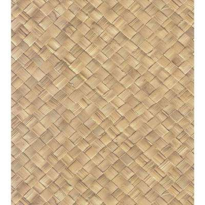 Destinations by the Shore Brown Basket Weave Wallpaper Sample