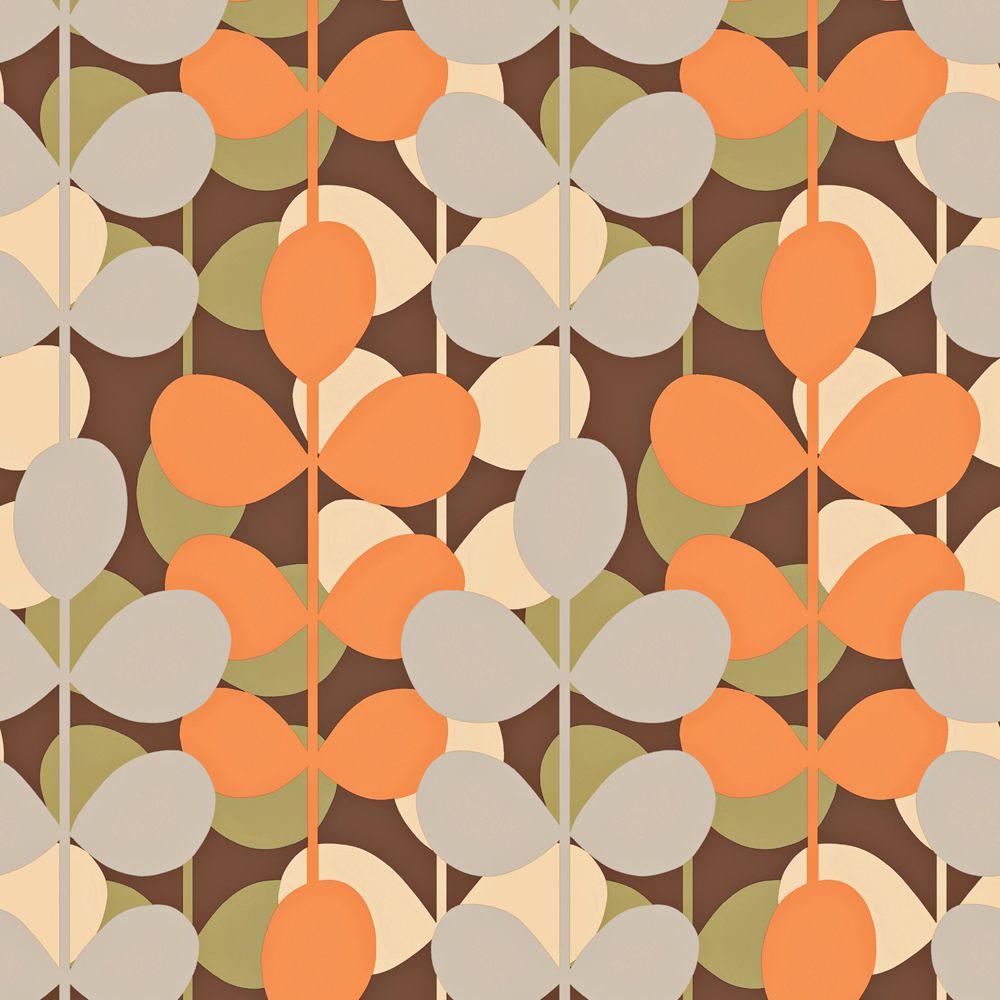 The Wallpaper Company 56 sq. ft. Multi Colored Modern Large Scale Leaf Stripe Wallpaper