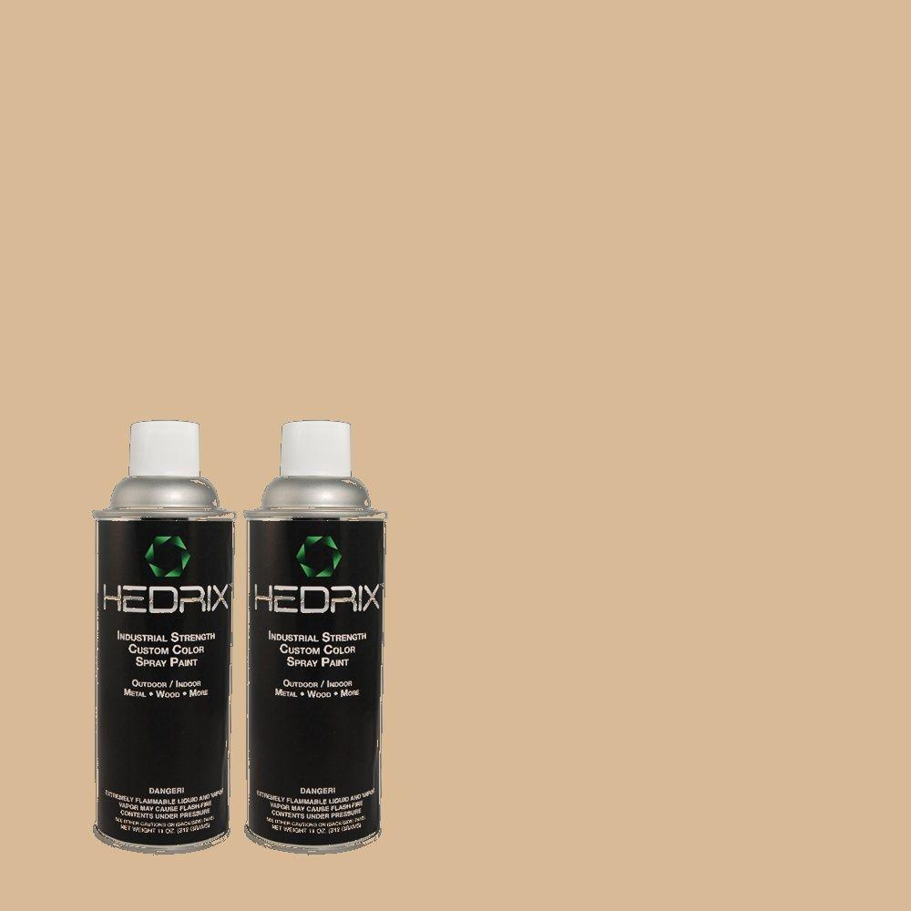 Hedrix 11 oz. Match of RAH-19 Linen Flat Custom Spray Paint (2-Pack)