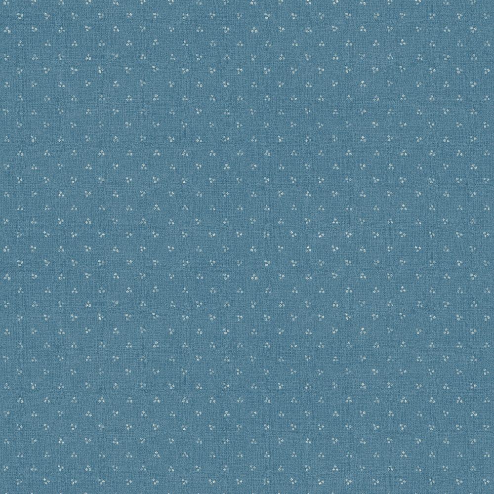 The Wallpaper Company 8 in. x 10 in. Blue Mini Print Wallpaper Sample