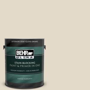 Behr Ultra 1 Gal 770d 4 Clay Pebble Semi Gloss Enamel Exterior Paint And Primer In One 585401 The Home Depot
