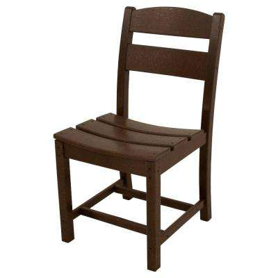 Classics Mahogany All-Weather Plastic Outdoor Dining Side Chair