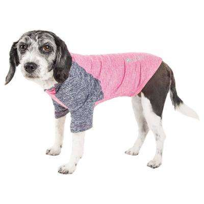 Large Pink Active Hybreed Two-Toned Performance Dog T-Shirt
