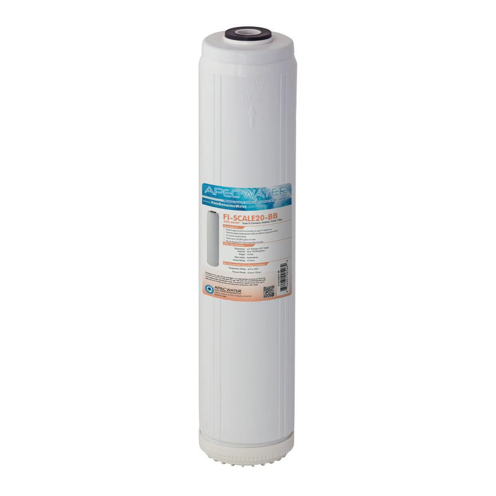 whole house water filter cartridge. APEC Water Systems 20 In. Whole House Big Blue Replacement Filter Scale And Corrosion Cartridge
