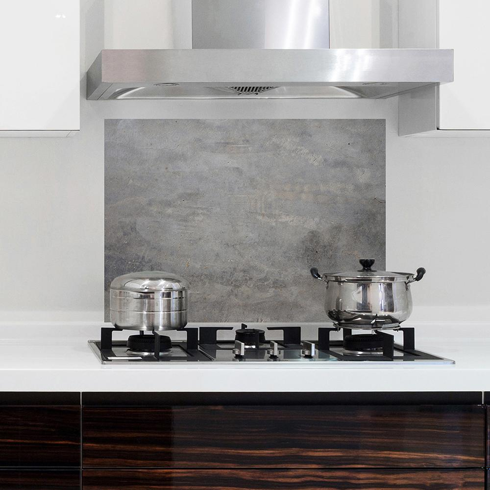 Grey Concrete Kitchen Panel Wall Decal