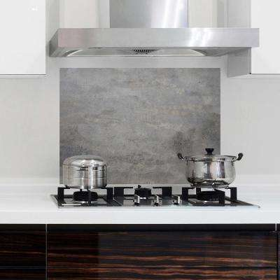 25.6 in. x 18.6 in. Grey Concrete Kitchen Panel