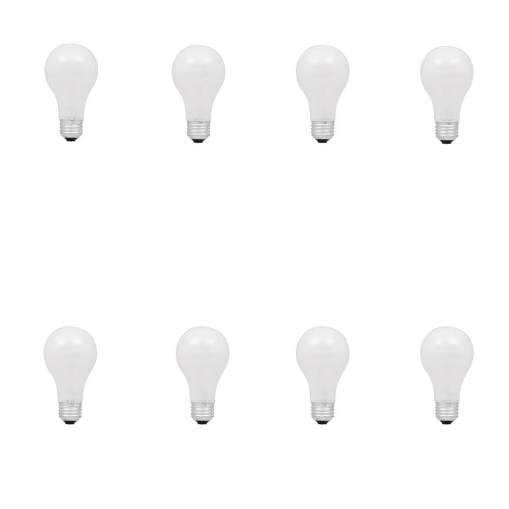 100-Watt Halogen A19 Double Life Soft White Replacement Light Bulb (8-Pack)