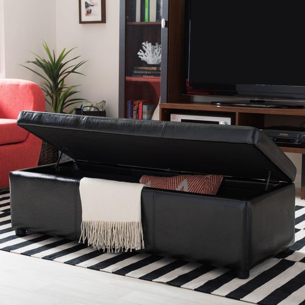 Dennehy Black Storage Bench