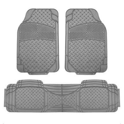 Gray Heavy Duty 3-Piece 29 in. x 18 in. Vinyl Trim to Fit Car Floor Mats